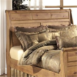 Ashley Bittersweet Wood King Sleigh Headboard in Light Brown