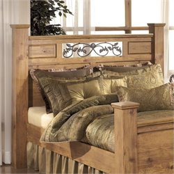 Ashley Bittersweet Wood King Poster Panel Headboard in Light Brown