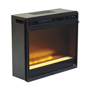 Ashley Electric LED Glass Stone Fireplace Insert in Black
