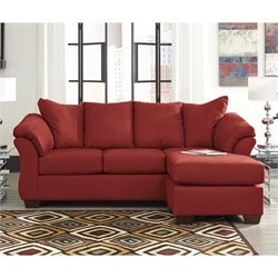Ashley Darcy Fabric Chaise Sofa in Salsa