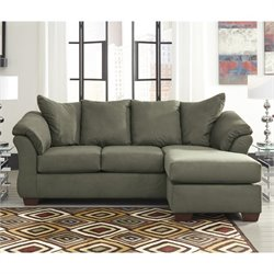 Ashley Furniture Darcy Reversible Fabric Sectional in Sage