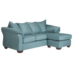 Darcy Fabric Chaise Sofa
