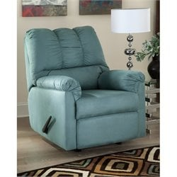 Ashley Darcy Fabric Rocker Recliner in Sky