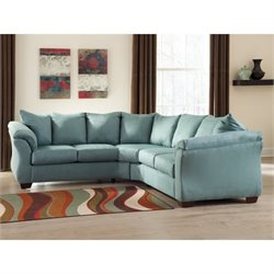 Ashley Darcy 2 Piece Fabric Sectional in Sky