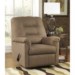 Ashley Harold Point Fabric Zero Wall Recliner in Mocha
