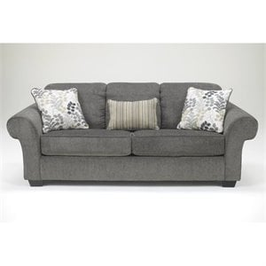 Ashley Makonnen Chenille Sofa in Charcoal