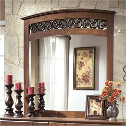 Ashley Timberline Bedroom Mirror in Warm Brown