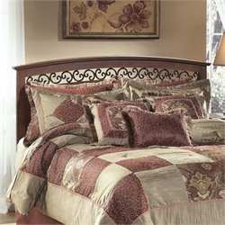 Ashley Timberline Wood Full Queen Panel Headboard in Warm Brown