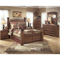 Timberline 6 Piece Wood Poster Panel Bedroom Set