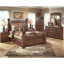 Ashley Timberline 6 Piece Wood King Poster Panel Bedroom Set