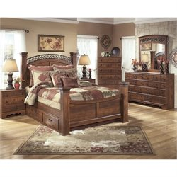 Ashley Timberline 6 Piece Wood Queen Drawer Panel Bedroom Set