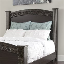 Ashley Vachel Wood Full Queen Poster Panel Headboard in Dark Brown