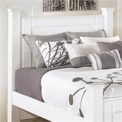 Ashley Weeki Wood Queen Poster Panel Headboard in White
