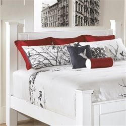 Weeki Wood Poster Panel Headboard in White