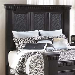 Cavallino Wood Panel Headboard in Black