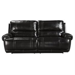 Ashley Paron Leather 2 Seat Reclining Sofa in Antique