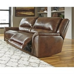 Ashley Jayron Leather 2 Seat Reclining Sofa in Harness