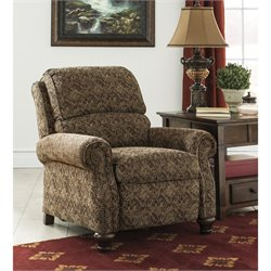 Ashley Walworth Fabric Low Leg Recliner in Garnet