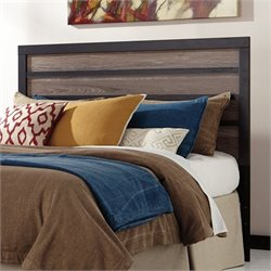 Ashley Harlinton Wood Full Queen Panel Headboard in Brown