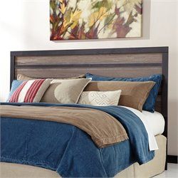 Ashley Harlinton Wood King Panel Headboard in Brown