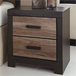 Ashley Harlinton 2 Drawer Wood Nightstand in Brown