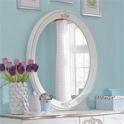 Ashley Korabella Oval Bedroom Mirror in White