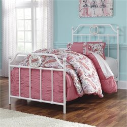 Ashley Korabella Metal Twin Bed in White