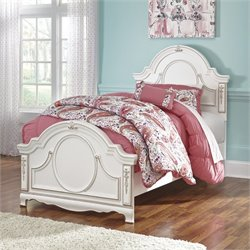 Ashley Korabella Wood Twin Panel Bed in White