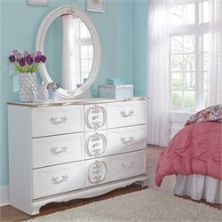 Ashley Korabella 2 Piece Wood Dresser Set in White