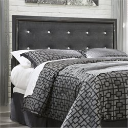 Ashley Alamadyre Faux Leather Full Queen Headboard in Black