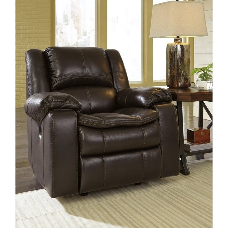 home furniture living room recliners ashley long knight faux leather