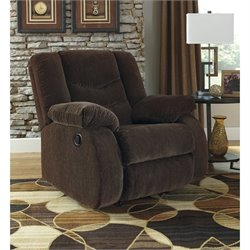 Ashley Garek Fabric Rocker Recliner in Cocoa