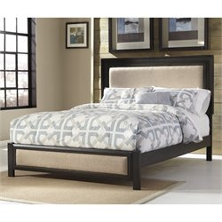Ashley Birstrom Queen Upholstered Panel Bed in Dark Brown