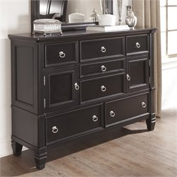 Ashley Greensburg 7 Drawer Wood Dresser in Black