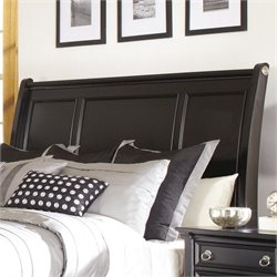 Ashley Greensburg Wood Queen Sleigh Headboard in Black