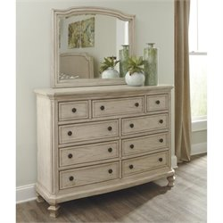 Ashley Demarlos 2 Piece Wood Dresser Set in Parchment