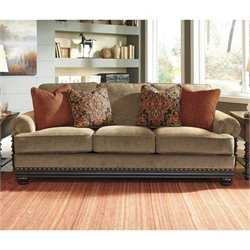 Ashley Elnora Fabric Sofa in Umber