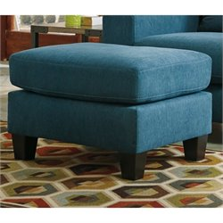 Ashley Sagen Fabric Ottoman in Teal