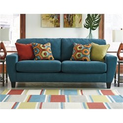Ashley Sagen Fabric Sofa in Teal