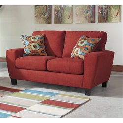 Ashley Sagen Fabric Loveseat in Sienna