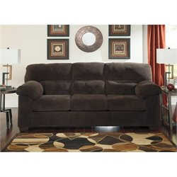 Ashley Zorah Fabric Sofa in Chocolate