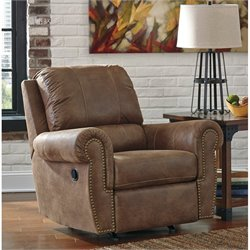 Ashley Burnsville Faux Leather Rocker Recliner in Espresso
