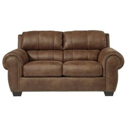 Ashley Burnsville Faux Leather Loveseat in Espresso
