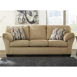 Ashley Aluria Fabric Sofa in Mocha