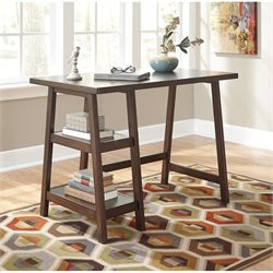 Ashley Lewis Home Office Small Desk in Medium Brown