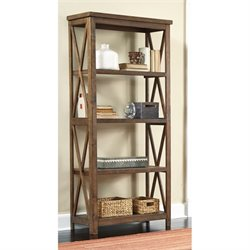 Ashley Minbreeze Large Bookcase in Reclaimed Medium Brown