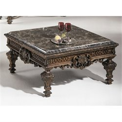 Ashley Casa Mollino Square Coffee Table in Dark Brown