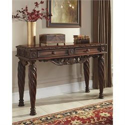 Ashley North Shore Sofa Table in Dark Brown