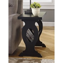 Ashley Braunsen Chair Side End Table with Magazine Rack in Black