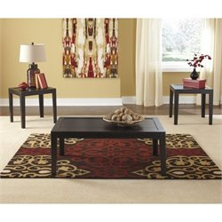 Ashley Birstrom 3 Piece Coffee Table Set in Black
